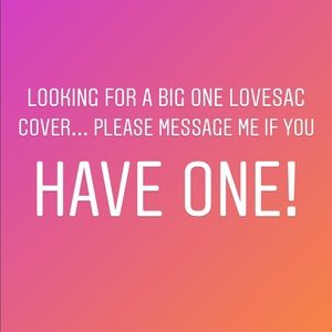 ISO BIG ONE LOVESAC COVER ONLY